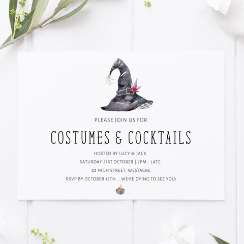 witches hat halloween invitations, halloween printable invitations, editable halloween invitations, fun halloween invites, halloween invites, halloween ideas