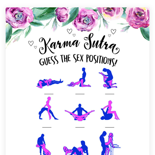 Guess The Sex Position - Purple Peonies