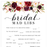 Bridal Mad Libs Game - White Marsala