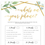 What's on Your Phone - Gold Greenery