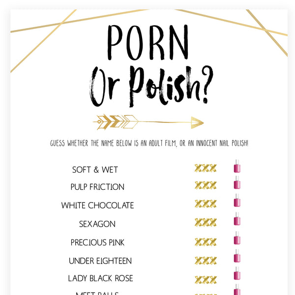 Porn or Polish Game - Bride Tribe