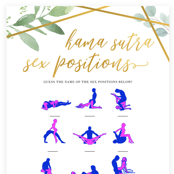 Guess The Sex Position - Gold Greenery
