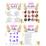 8 Bachelorette Party Games Bundle - Gold Pineapple