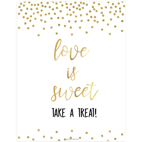 Love is Sweet Sign - Gold Foil