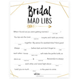 Bridal Mad Libs Game - Bride Tribe