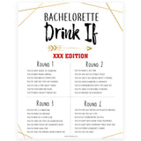 bachelorette drink if game, printable bachelorette games, bridal shower games, drink if party game, bride tribe bridal games