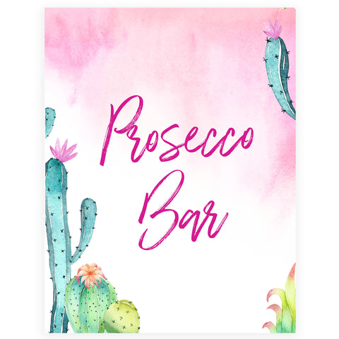 Prosecco Bar Sign - Fiesta