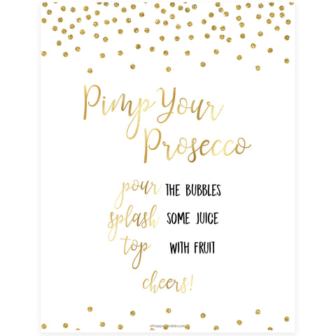 Pimp your Prosecco Sign - Gold Foil