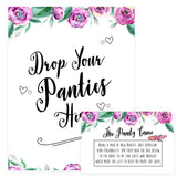 Drop Your Panties Game - Purple Peonies