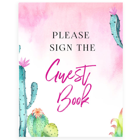 Sign our Guestbook Sign - Fiesta