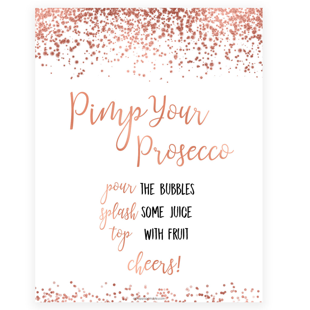 Pimp Your Prosecco Sign Rustic Wedding Signs Wine Bar Sign Instant Download Prosecco Bar Sign Printable DIY Prosecco Bar Open Bar Sign