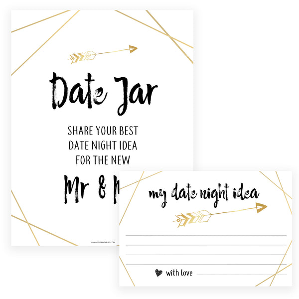 Date Night Jar Bridal Game - Bride Tribe