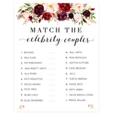 Match Celebrity Couples Game - White Marsala