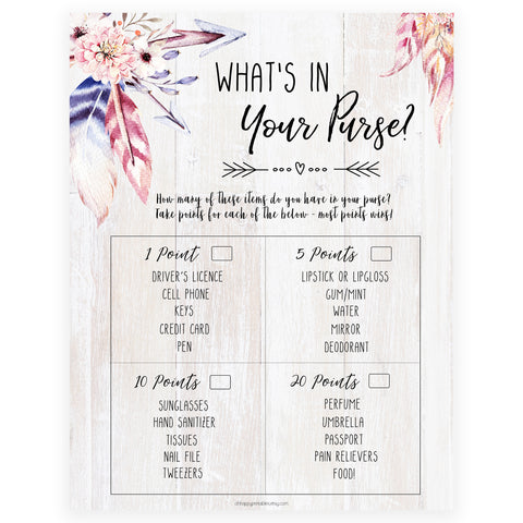 What's In Your Purse - Boho