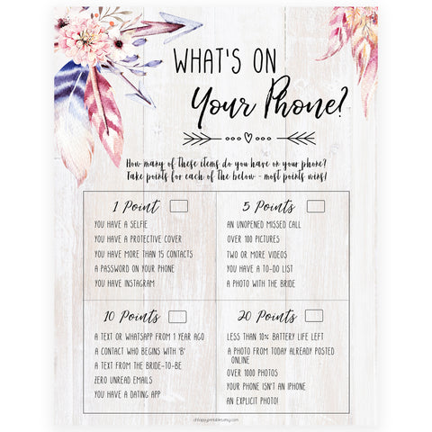 What's on Your Phone - Boho