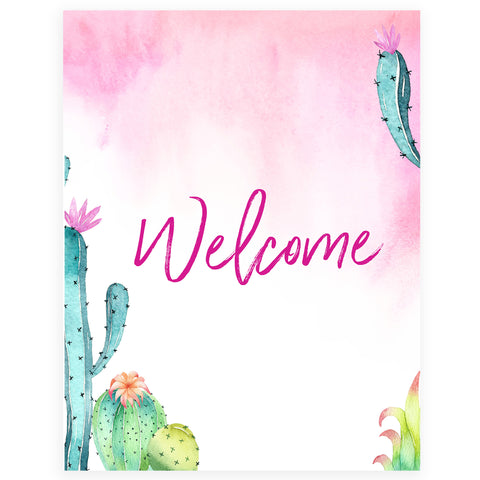 Welcome Table Sign - Fiesta
