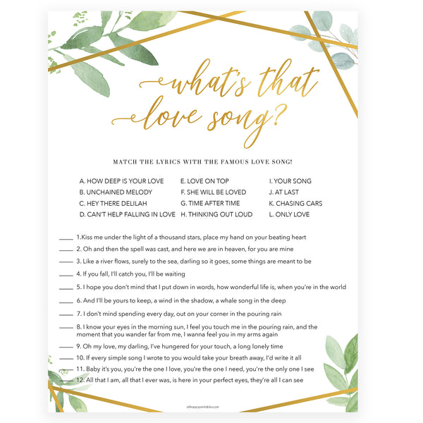 whats that love song game, love song guessing game, Printable bridal shower games, friends bridal shower, friends bridal shower games, fun bridal shower games, bridal shower game ideas, friends bridal shower