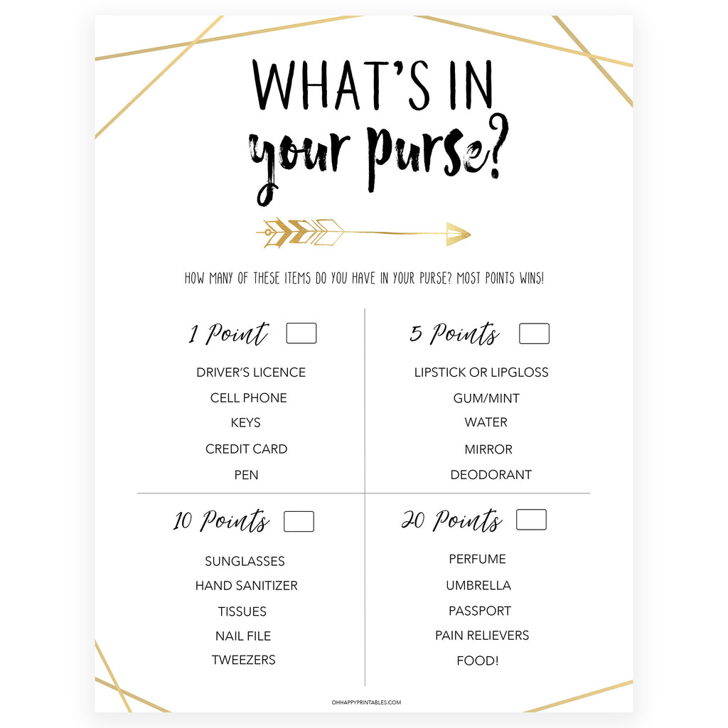 photograph relating to What's in Your Purse Free Printable identify Whats Within just Your Purse - Bride Tribe