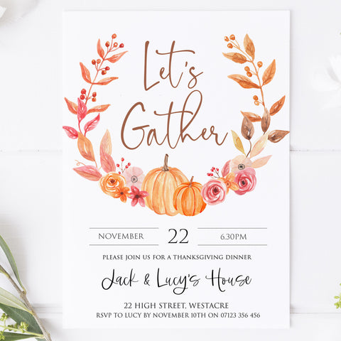 thanksgiving invitations, editable thanksgiving invitations, printable thanksgiving invitations