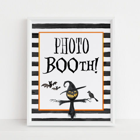 photobooth sign, halloween table signs, printable halloween table signs, spooky halloween decor, halloween decor