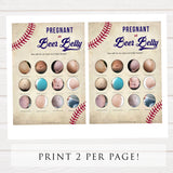 Pregnant or Beer Belly Game, Baby Shower Games, Baby Bump Beer Belly, Pregnant or Beer Belly, Baby Bump or Beer Belly, Baseball, Bump Beer, printable baby shower games, fun baby shower games, popular baby shower games