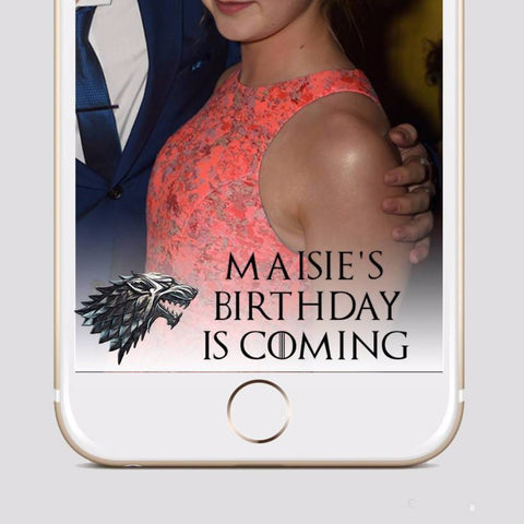 Game of Throne Snapchat Wedding Filter