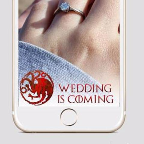 Wedding Is Coming Snapchat Filter