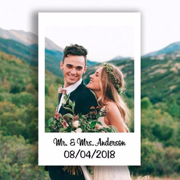 Polaroid Wedding Photo Booth Printable