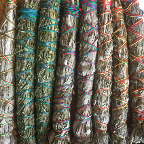 Smudge Stick - White Sage & Sweetgrass 19cm