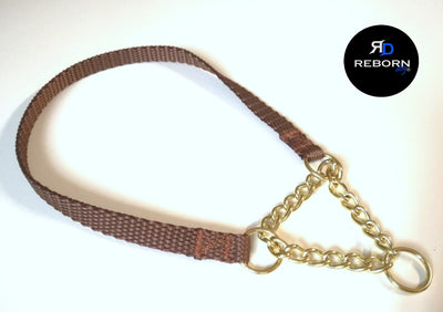 Collare con catena martingala da expo - Reborn dog™