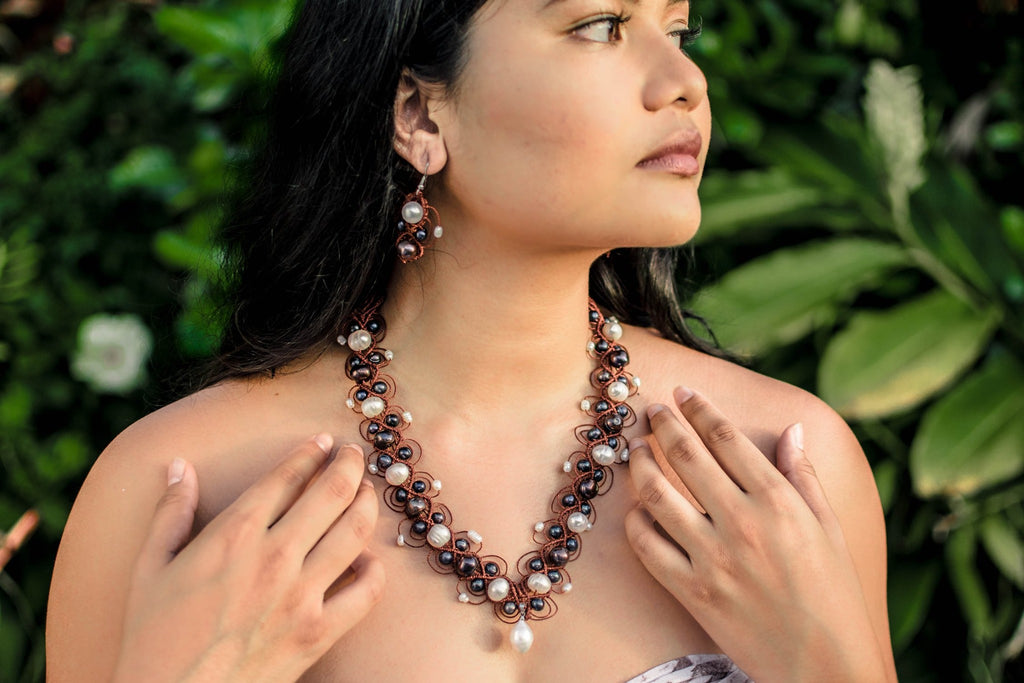 Evaline Pearl Jewellery Set