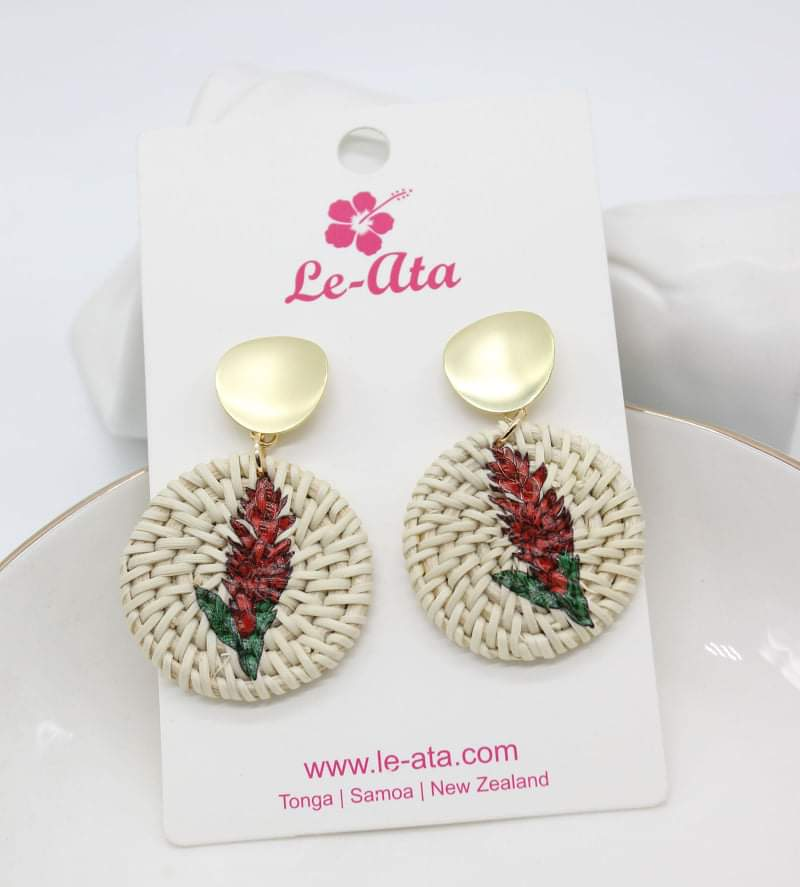 Rattan Teuila earrings