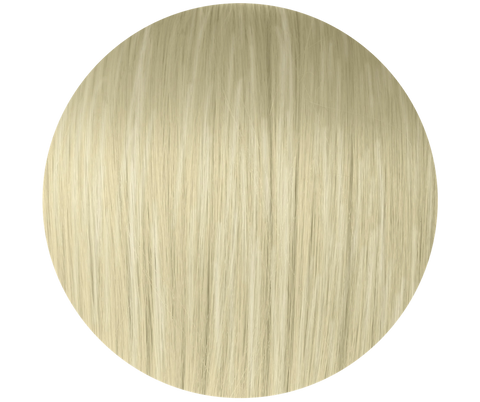 #60 Ash White Blonde Tape Hair Extensions