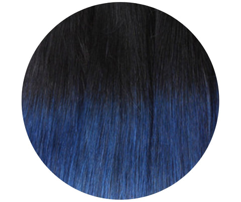 Clip In Black/Blue Ombre