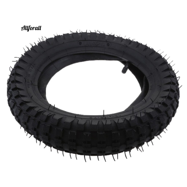 1 Piece Rubber Tire, Inner Tube Inflatable Electric Scooter Tyre, Razor MX350 / MX400 Dirt Bike Rocket Tread Tire, 29cm Dia Black