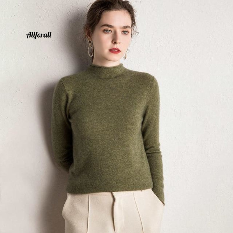 10 Colors Pure Cashmere Sweaters Women Pullovers New Fashion Winter Ladies Standard Clothes Army