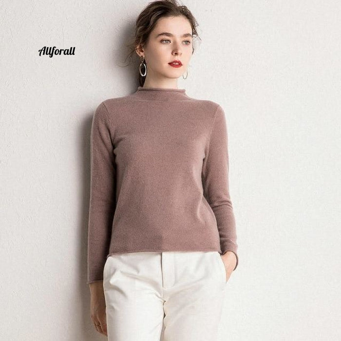 10 Colors Pure Cashmere Sweaters Women Pullovers New Fashion Winter Ladies Standard Clothes Dark
