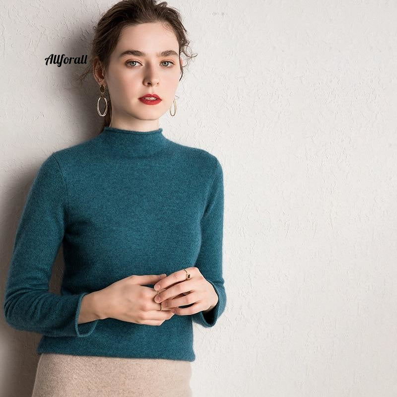 10 Colors Pure Cashmere Sweaters Women Pullovers New Fashion Winter Ladies Standard Clothes Sweater