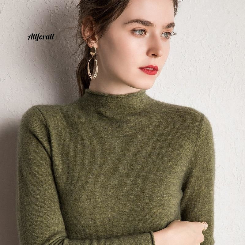 10 Colors Pure Cashmere Sweaters, Women Pullovers, New Fashion Winter Ladies Standard Clothes