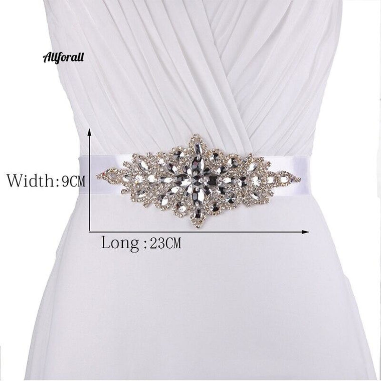 100% Real Handmade Crystal Beads Shinny Cheap Charming White Ivory Bridal Belt, Sashes Wedding Accessories