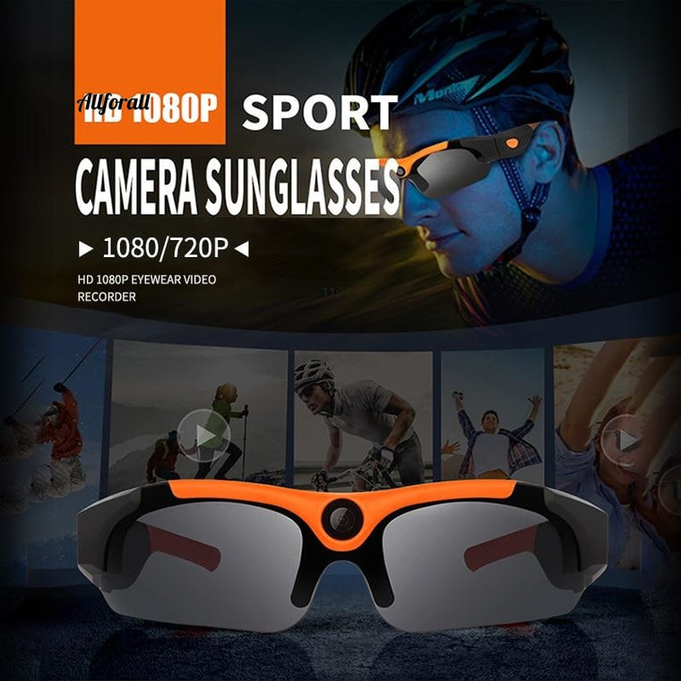 1080P FHD Mini WIFI Sunglass Camera, 120 Degree Sports Camcorder Motion Remote DV Monitor IP Camera for Outdoor Cycling & Running