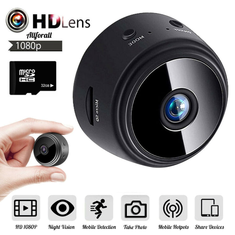 1080P HD Mini Camera, WiFi Wireless Security Protection Camera, Remote Monitoring Motion Detection Dark Night Vision Camera