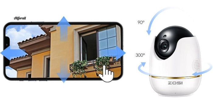 1080P Hd Wifi Wireless Home Security Ip Camera 2.0Mp Ir Network Cctv Surveillance With Two-Way Audio