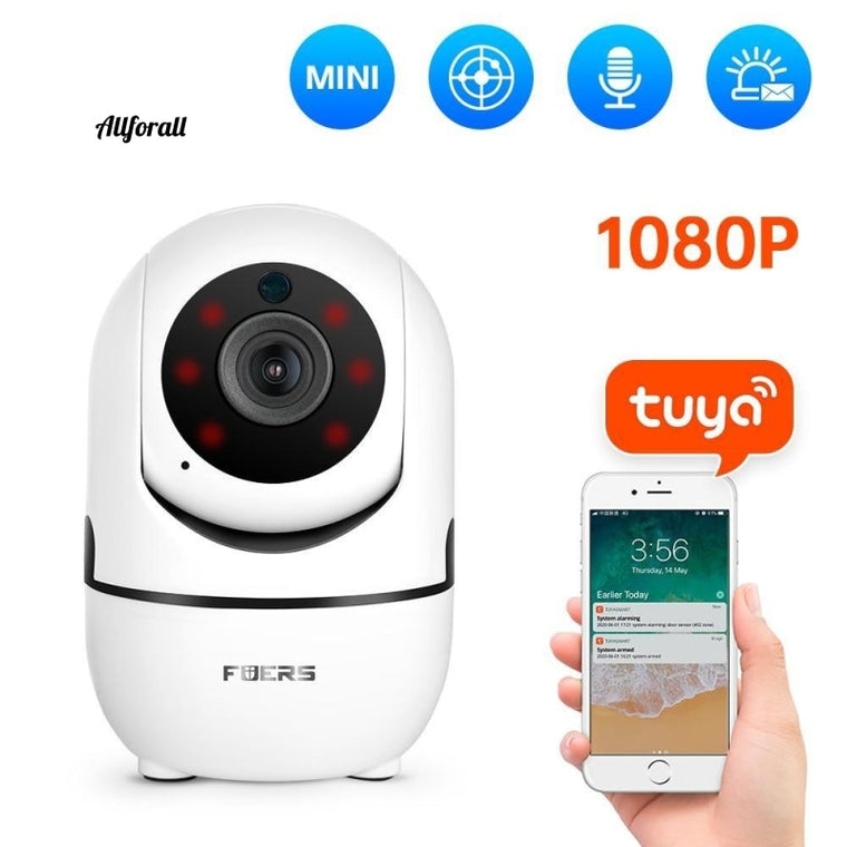 1080P IP Camera, Tuya APP Automatic Tracking Home Security Indoor Camera, Surveillance CCTV Wireless WIFI Camera