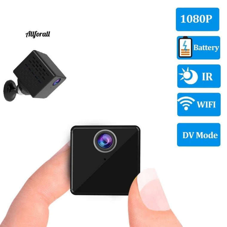 1080P Mini Wifi Kamera, CB73 IP Wiederaufladbare Batterie Video Security Surveillance IR Kamera