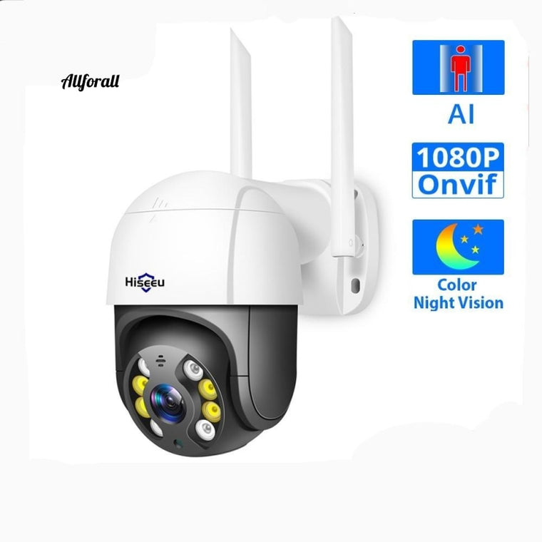 Cameră wireless WIFI 1080P Dome, 2MP în aer liber 4x Zoom digital, Cameră IP PTZ Rețea audio CCTV Supraveghere Onvif