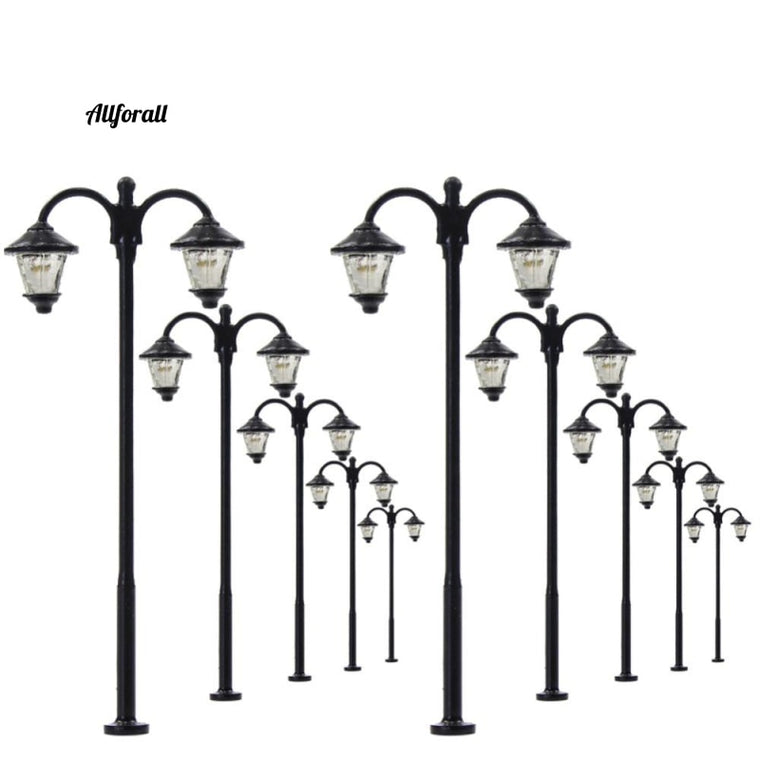 10pcs Model Railway Led Lamppost Lamps, Street Lights HO Scale 6cm 12V New LYM18 Model Outdoor Lamp