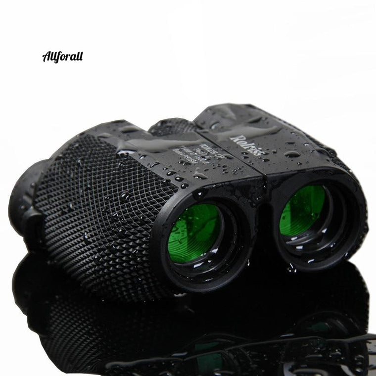 10X25 HD All-optical Green Film Waterproof Binoculars Telescope, Bak4 Prism Professional Optical Outdoor Sports Eyepiece