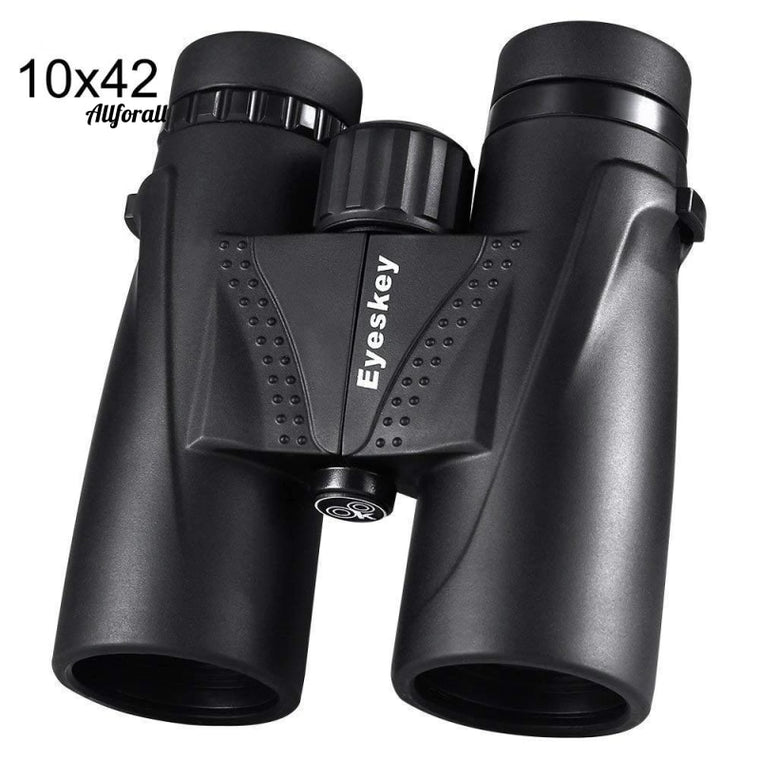 10X42 Kikkert Waterproof Professional Telescope, Zoom Bak4 Prism Optics with Binoculars Rem