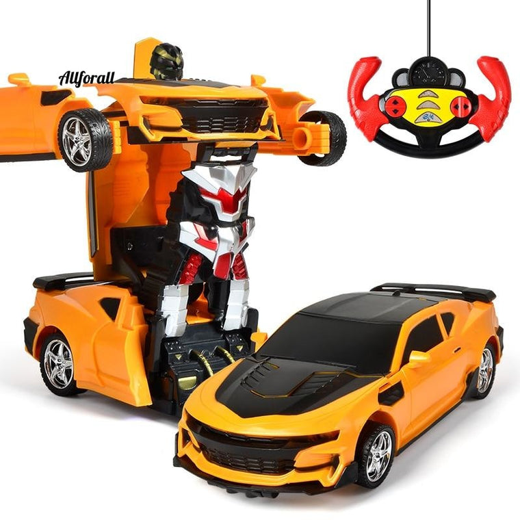 1:18 RC Car Transformer, 2 IN 1 Driving Sports Car, Robot Model Radio Controlled Carro RC Toy